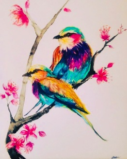 Lilac Breasted Rollers by Artist Jade Bryant
